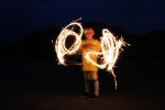 sparklers: neighbor kid